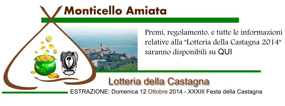 Manifesto della Lotteria della castagna 2014