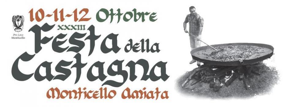 Manifesto Festa della castagna 2014
