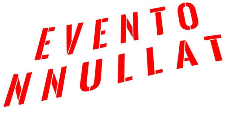 Immagine che annuncia che l'evento in oggetto è stato annullato
