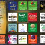 Il retro del Programma della Festa della castagna 2018