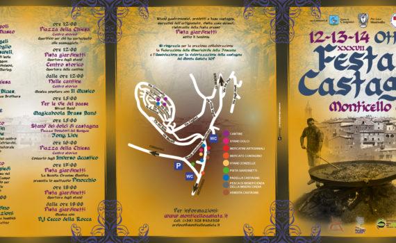 La copertina del Programma della Festa della castagna 2018