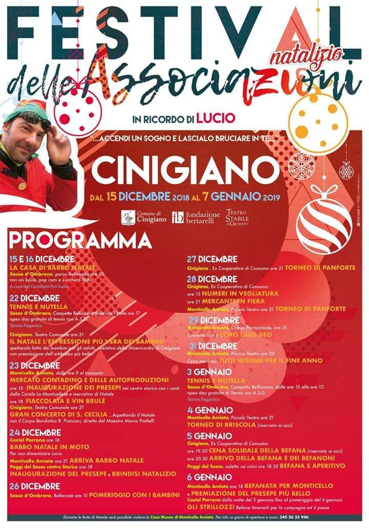 Festival natalizio delle Associazioni del Comune di Cinigiano
